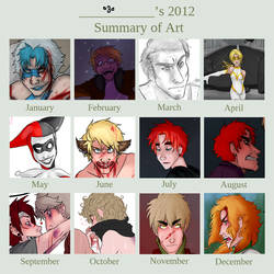 2012 Art Summary by anime-angel-in-dark