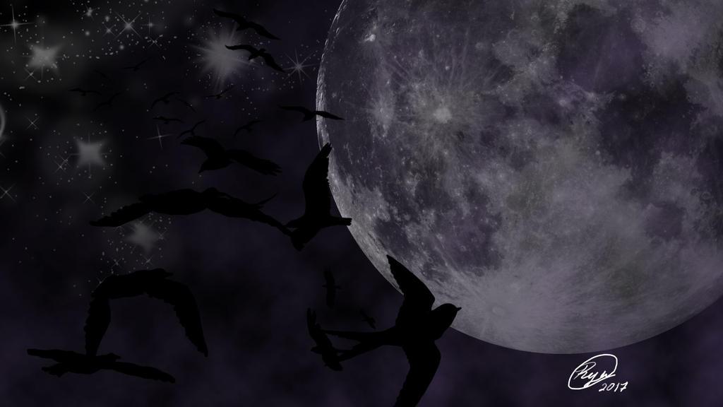 Aves de noche by ryubluedragon