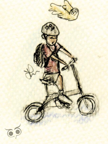 Le Brompton dans la BD Folding_bike_by_aniswuku