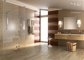 Bathroom_Red_white by lolloide