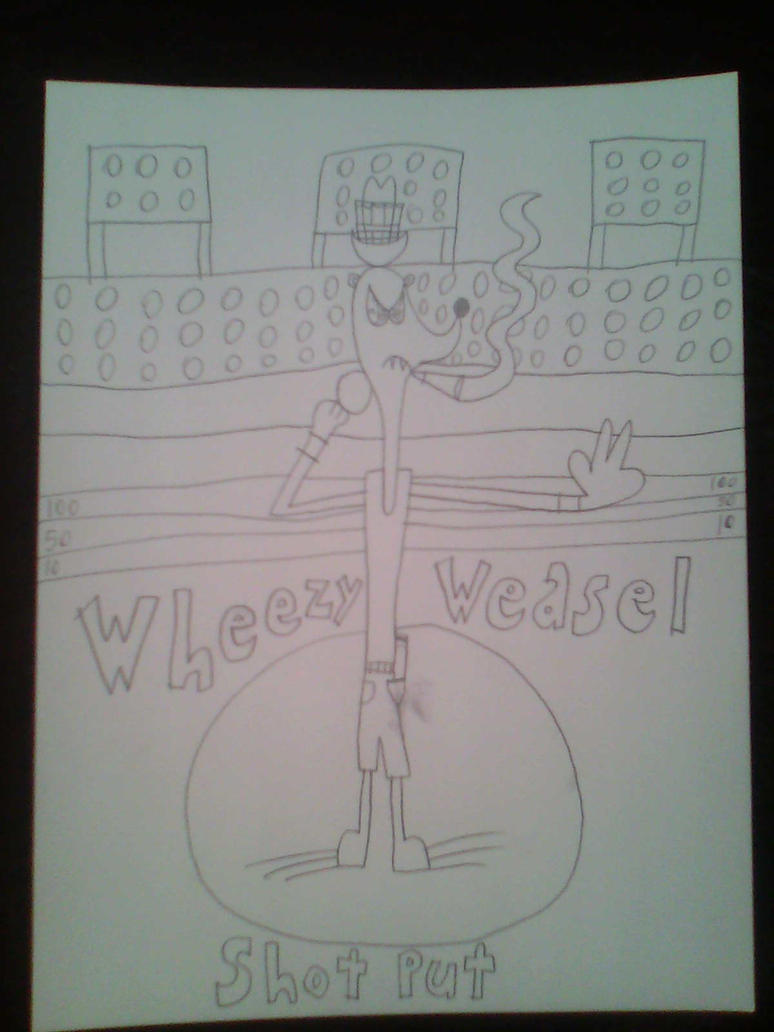 Wheezy Weasel in Shot Put by d00mshr00m