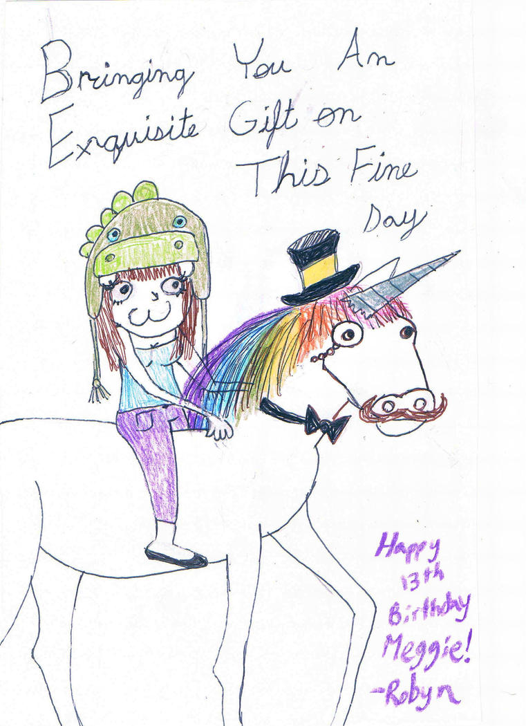 Happy Birthday From a Fancy Unicorn by HermieDaCrab on DeviantArt