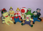 The Plush Mario Party Gang