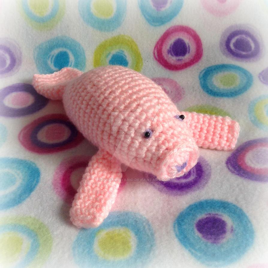 Pink Manatee Amigurumi by MadameWario on DeviantArt