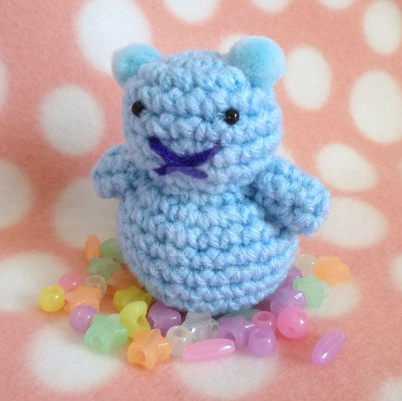 Amigurumi Gummy Bear : Blue Jellybear Amigurumi (Cotton Candy) by MadameWario on ...