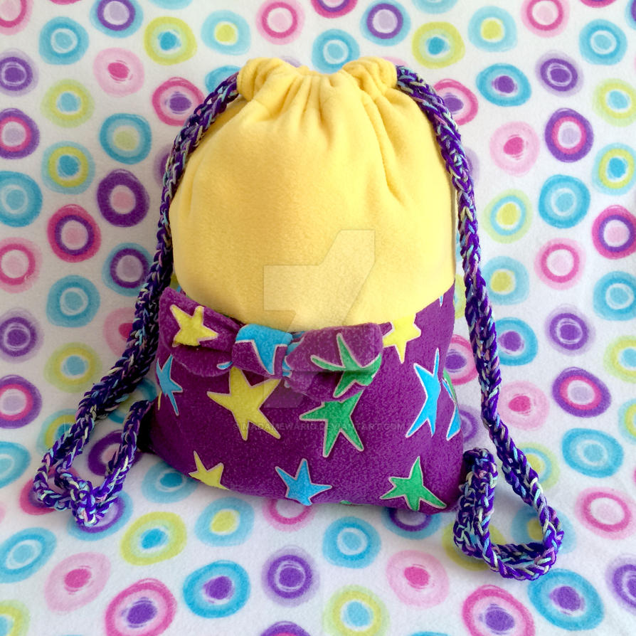 (Wario Party) Glow-in-the-Dark Star Cinch Backpack by MadameWario