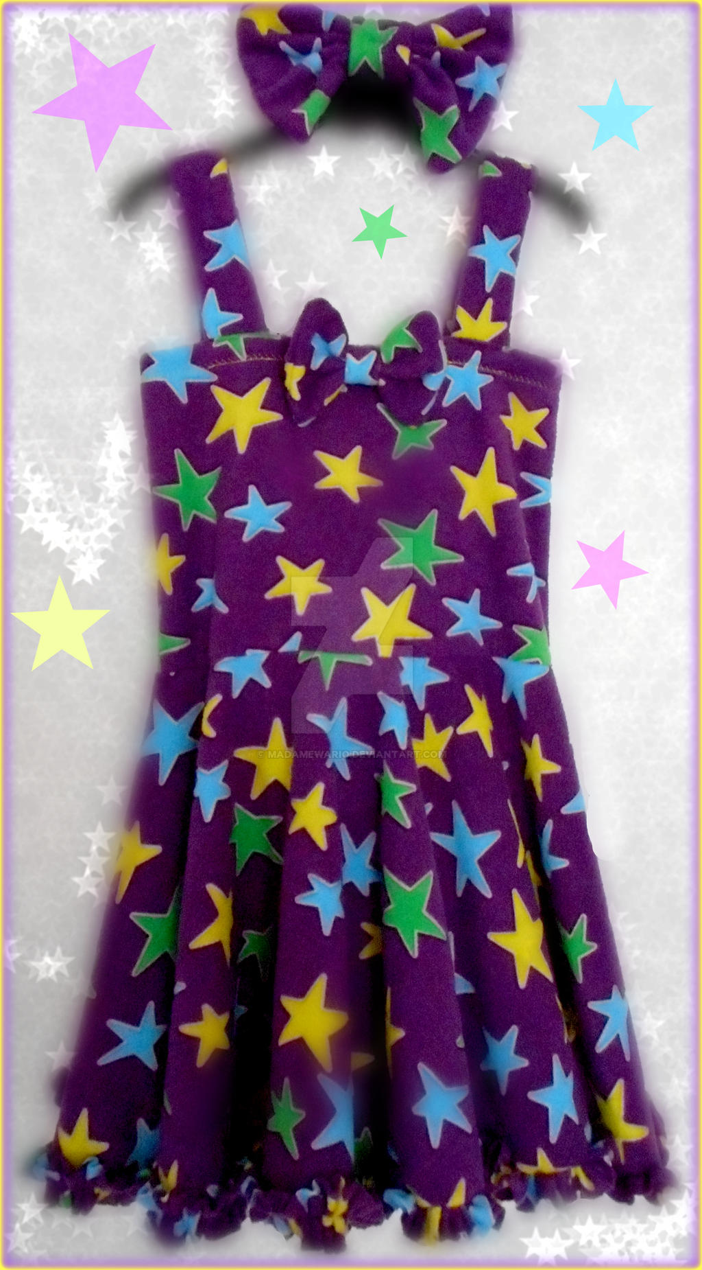 (Wario Party) Glow-in-the-Dark Star Dress by MadameWario