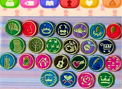 Embroidered animal crossing gold badges by fairy of