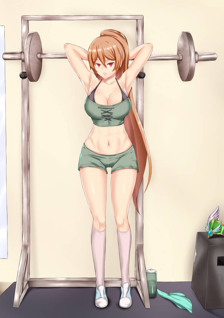Andaria working out (Breave Frontier) by AsterCrowley