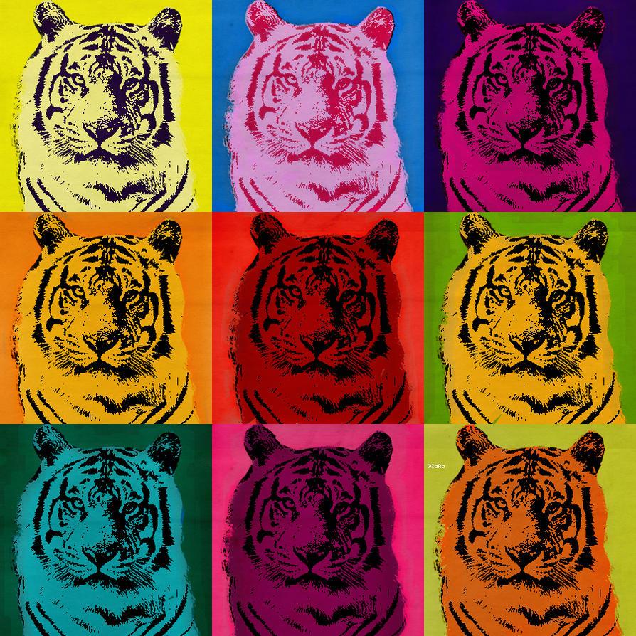 Tiger Pop Art Tiger Pop Art by Zara Girl