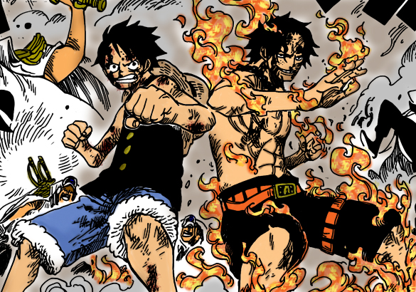 ace and luffy fighting wallpaper - photo #8