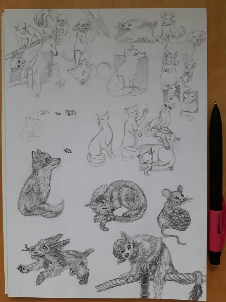 Llittle animal doodles by trimiyn