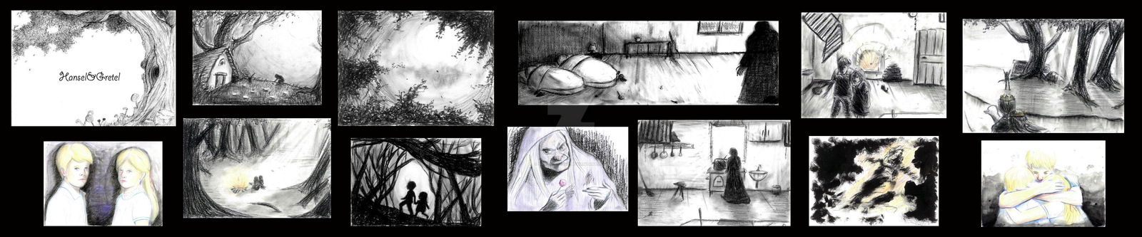 +Illustrated story of Hansel and Gretel+ by SaraFormosa