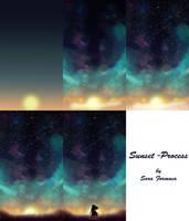 Tutorial: Sunset-Process by SaraFormosa