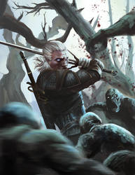 Geralt Ghoul Slayer by FrostedFlakes62