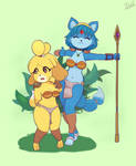 Isabelle and Krystal Commission