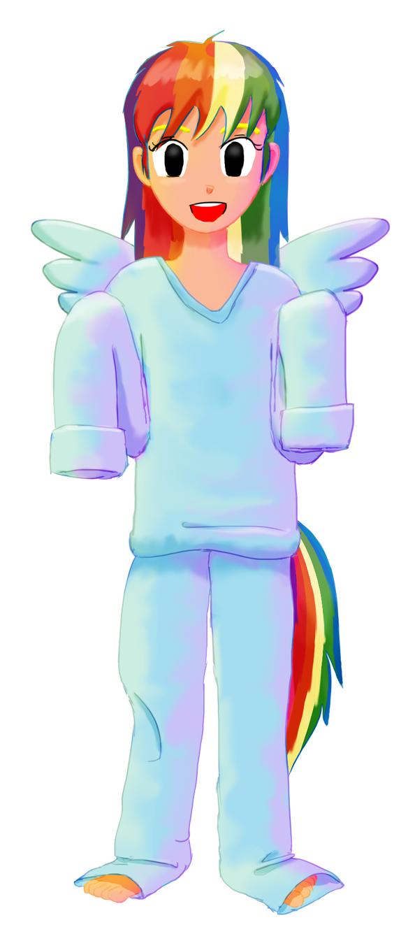 Klara - Rainbow Dash by mushisan