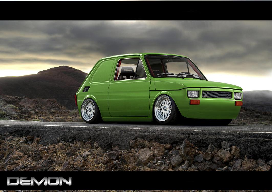 Fiat 126 Slammed van by TMSVirtualTuning