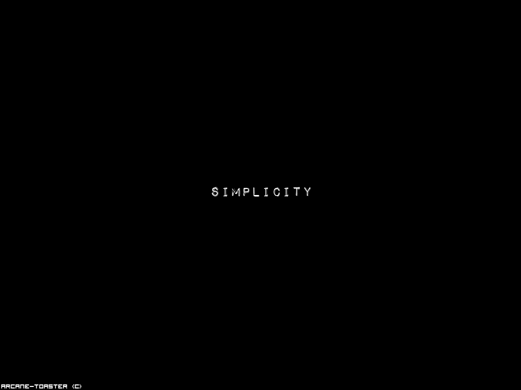 Simplicity Wallpaper by Arcane-Toaster