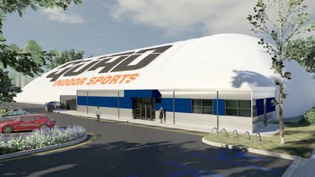 Indoor Sports Air Structure Rendering