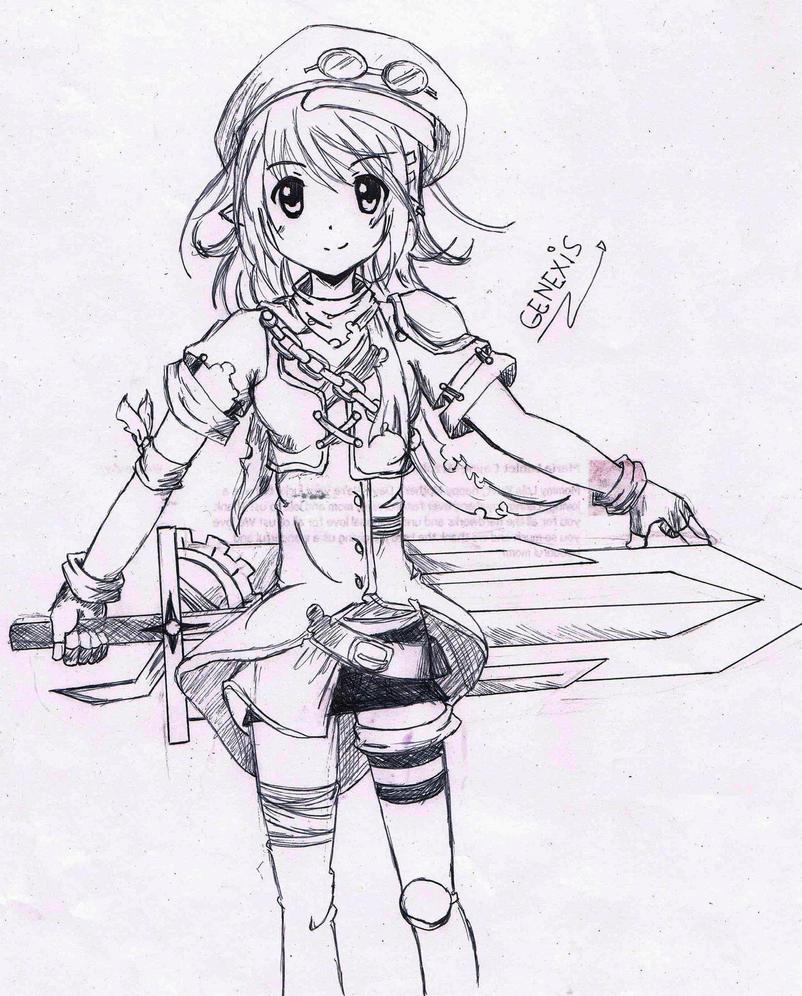Anime Sketch By Admin-GeneXis On DeviantArt