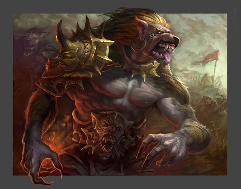 Werewolf by AntonZemskov
