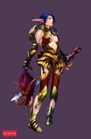 Elf warrior female by AntonZemskov