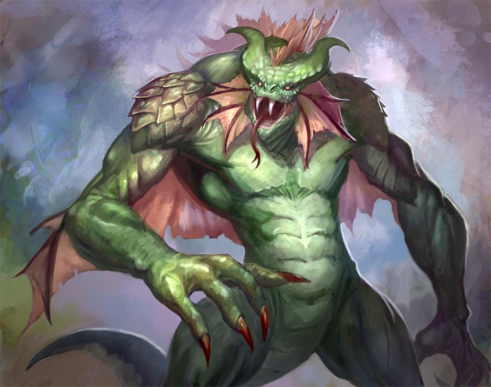 Lizardman by AntonZemskov