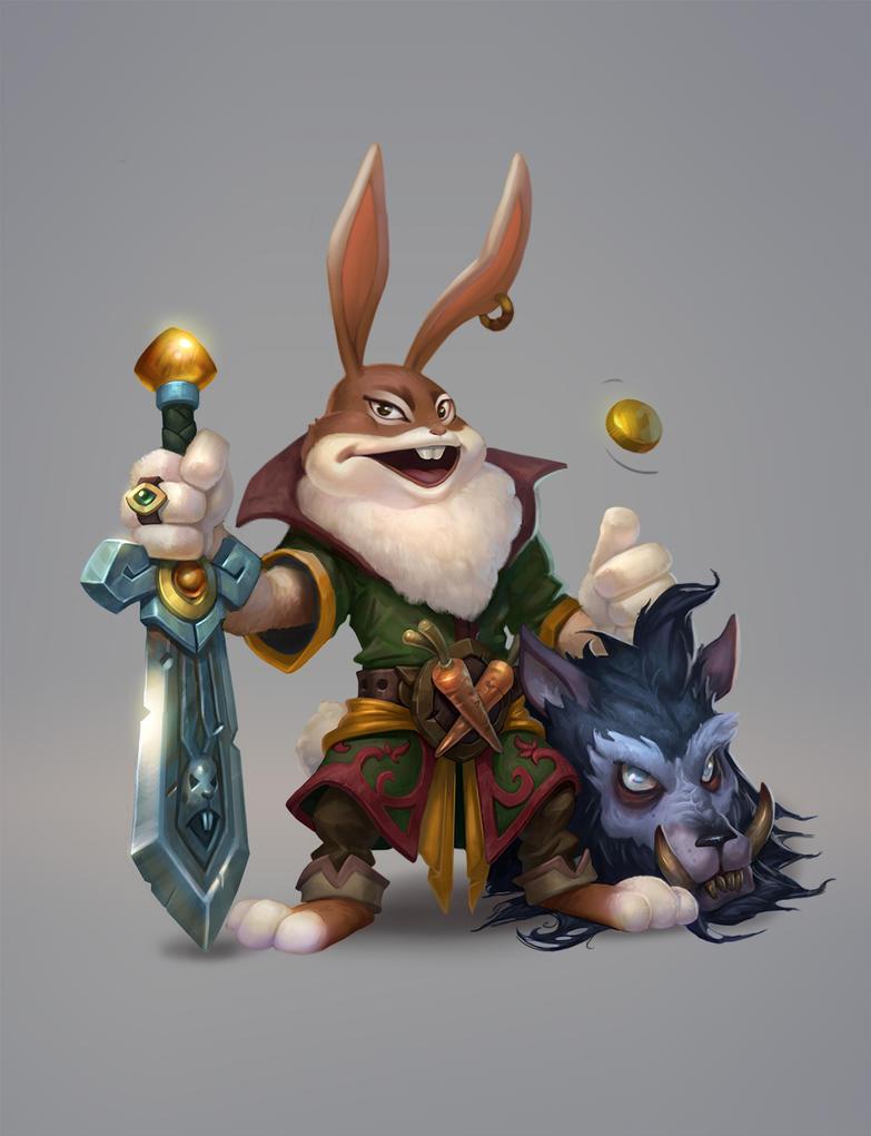 Rabbit warrior by AntonZemskov