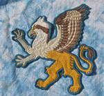 Hand Embroidered Osprey Gryphon