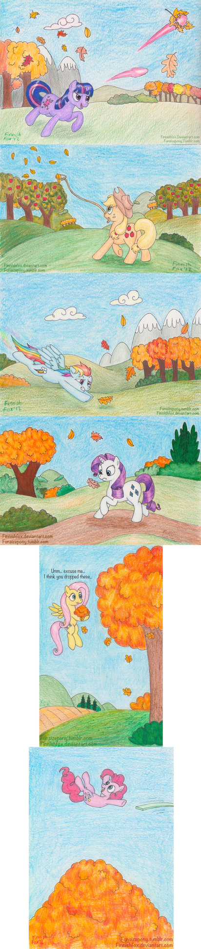 Chasing Leaves by FinnishFox