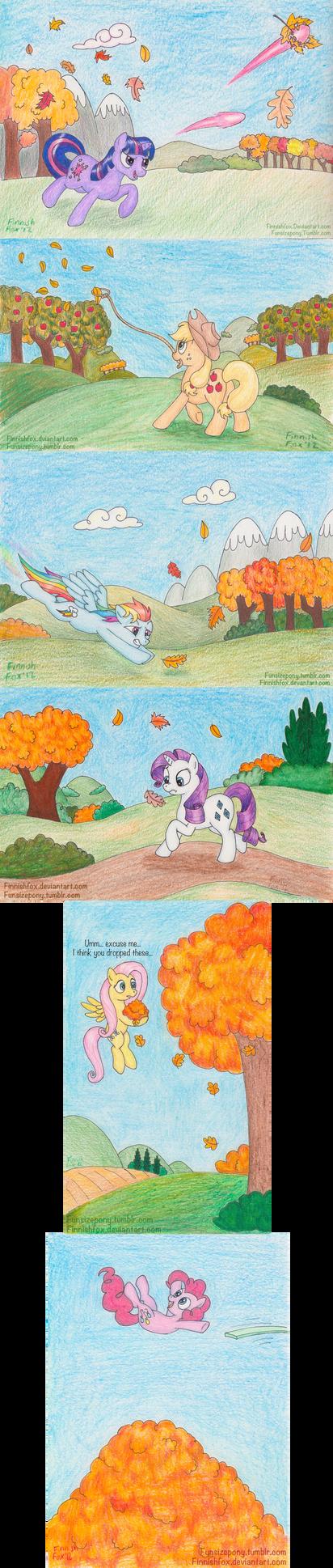 Chasing Leaves by FinnishFox