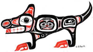 Haida wolf