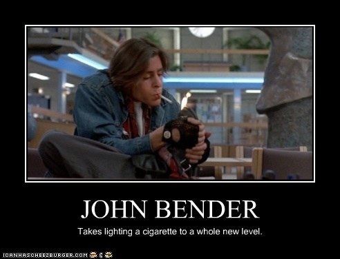 John Bender Demotivational Poster By Sliferbenten On