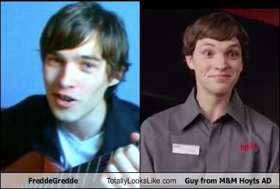 FreddeGredde Totally Looks Like Guy from M+M AD by sliferbenten