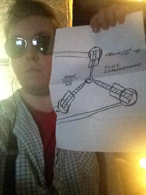 Flux capacitor drawing. by sliferbenten