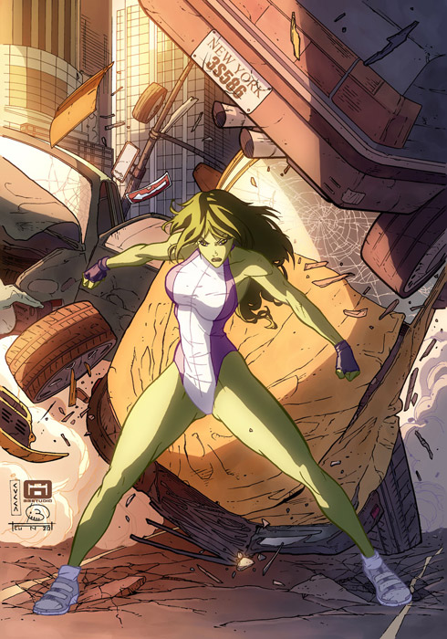 She Hulk by cuccadesign