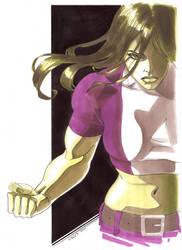 She Hulk marker sketch by cuccadesign