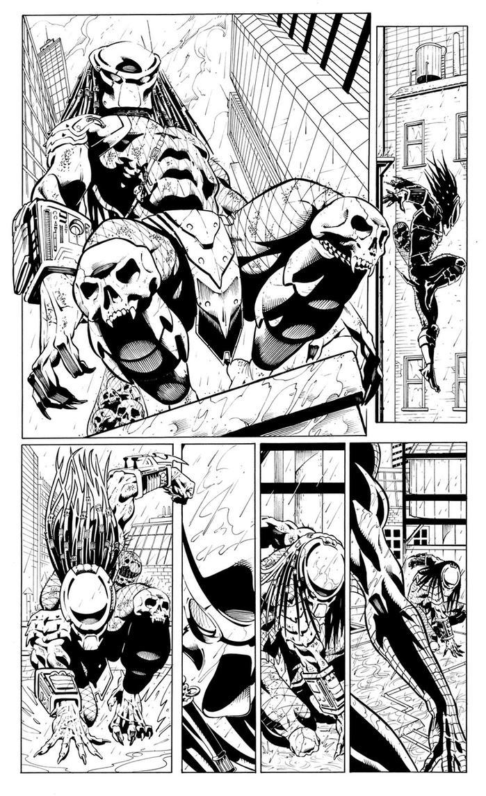 Spiderman vs Predator page1 by cuccadesign on DeviantArt
