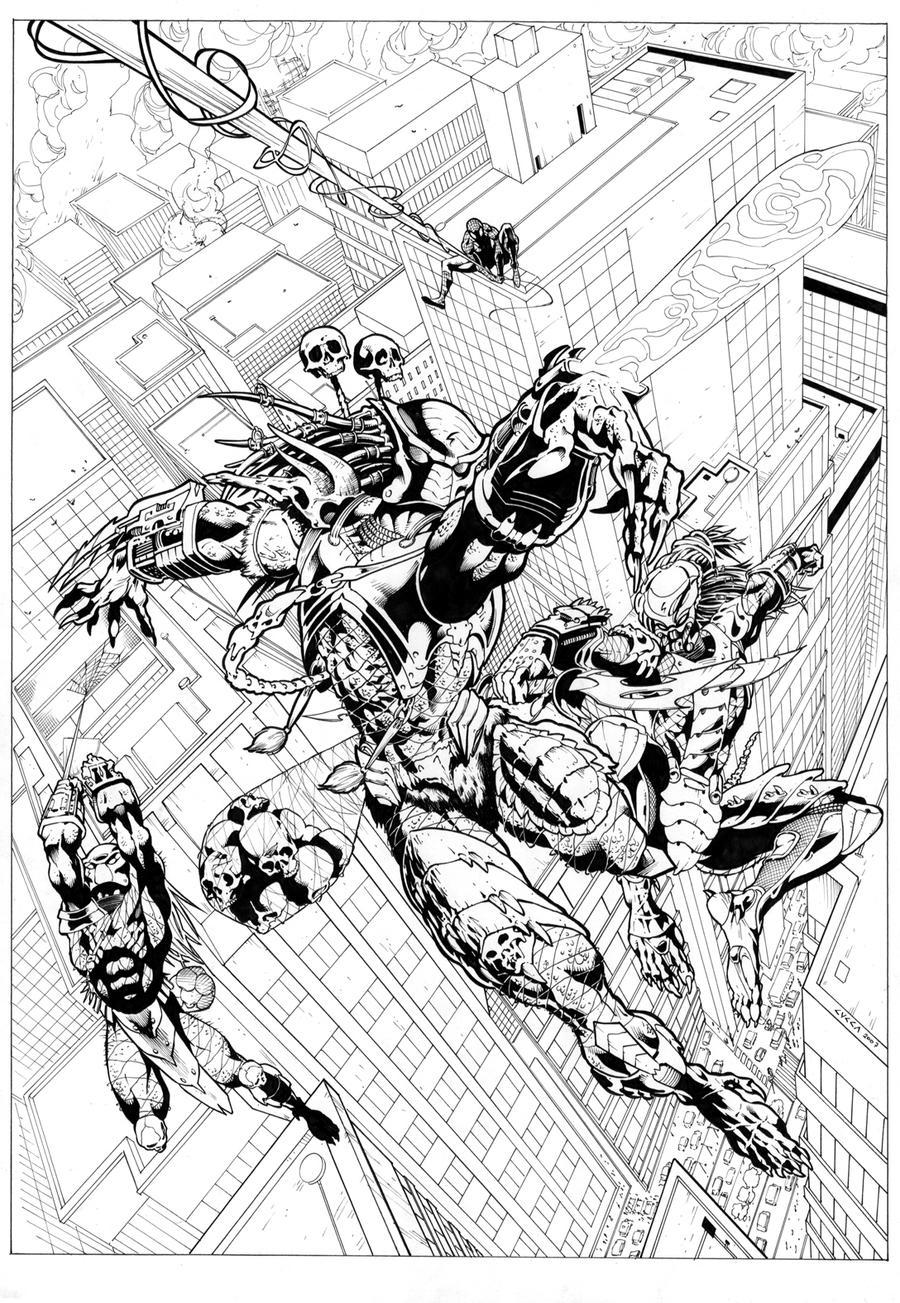 Spiderman Vs Predator Cover by cuccadesign on DeviantArt
