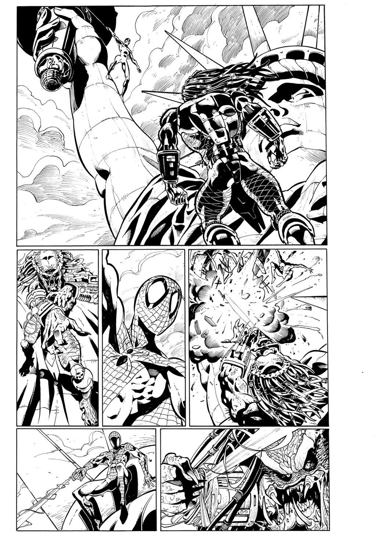 Spiderman vs Predator page6 by cuccadesign on deviantART