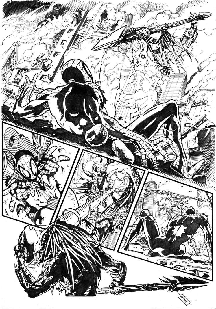 SPIDERMAN VS PREDATOR by cuccadesign