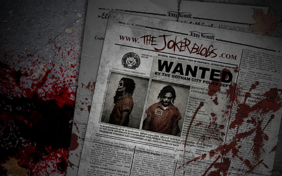 Joker's Blog Wallpaper by FoxDie49