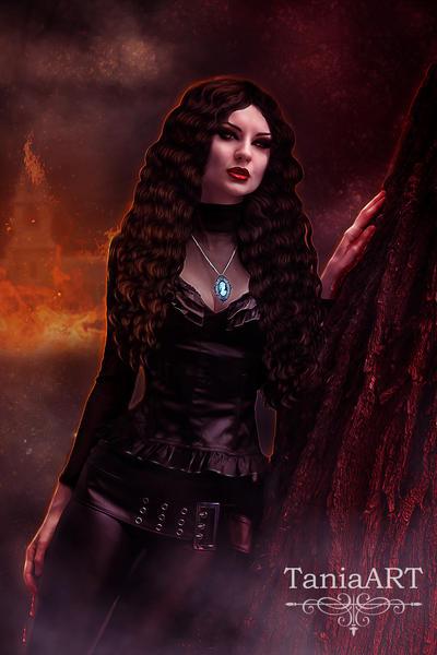 Katherine Pierce -  The Petrova Fire by TaniaART