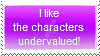 Characters Undervalued Stamp by AnimeCartoon