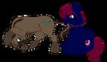 YCH - Fluffy Ponies AHMM! for CloeNightshy