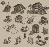 Port Master Tropical Island Items by fallonclarke