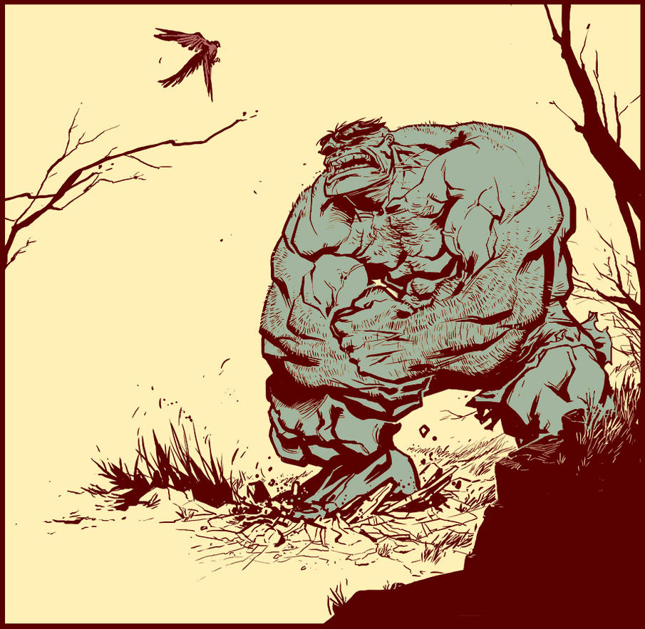 Hulk vs. Birdie by ChristianNauck