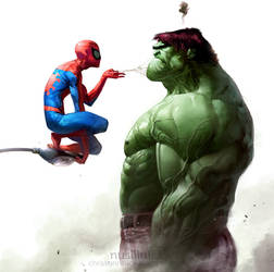 Spidey vs. Hulk by ChristianNauck