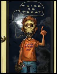 Zombie Toeter Kid by ChristianNauck